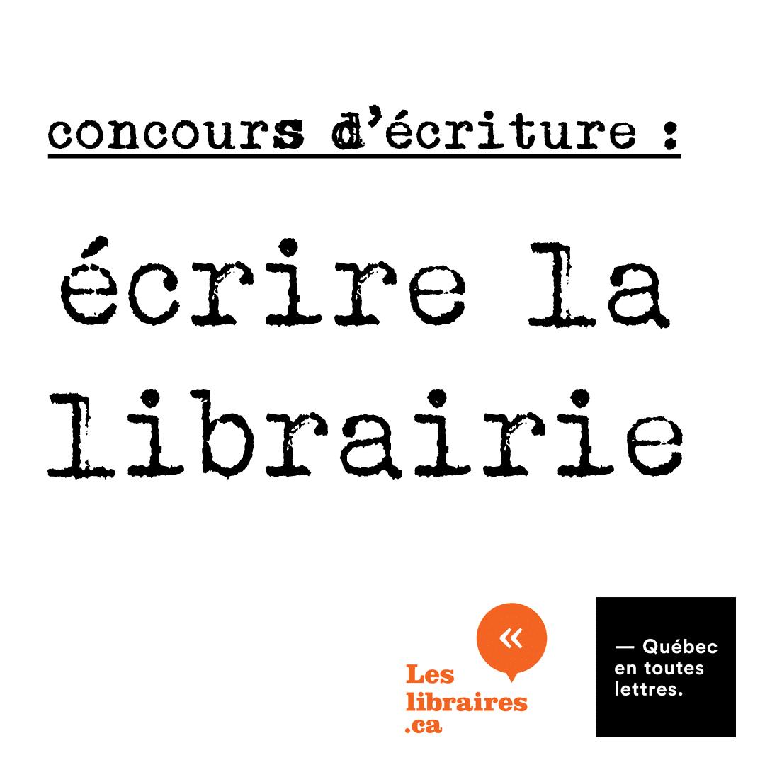 Concours Écrire la librairie : la grande gagnante