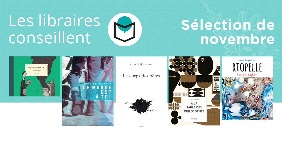 Les libraires conseillent : novembre 2017