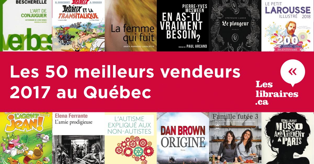 Les 50 meilleurs vendeurs 2017 au Québec