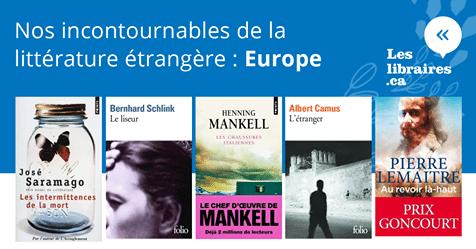 EUROPE - Carnet de nos incontournables de la littérature étrangère