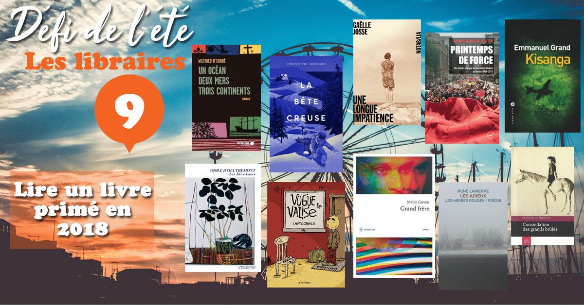 [DÉFI DE L'ÉTÉ] n°9 : Lire un livre primé en 2018