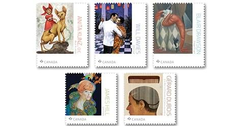Les grands illustrateurs sur les timbres de Postes Canada
