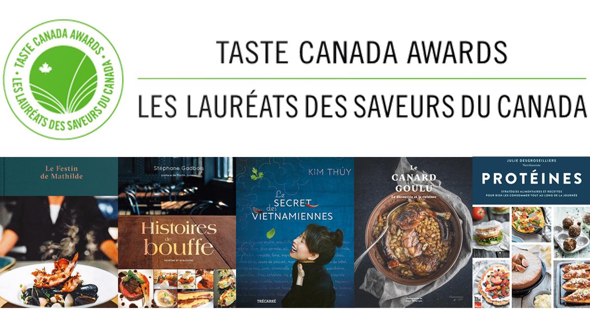 Les lauréats des Saveurs du Canada 2018