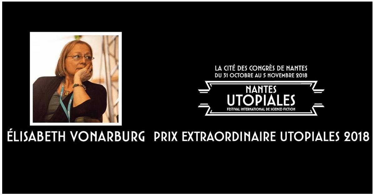 Élisabeth Vonarburg lauréate du Prix Extraordinaire des Utopiales 2018!