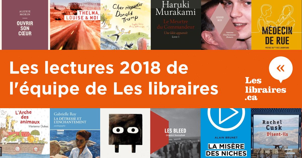Les lectures 2018 de l'équipe de Les libraires