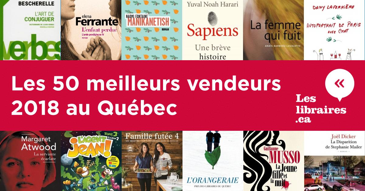 Les 50 meilleurs vendeurs 2018 au Québec