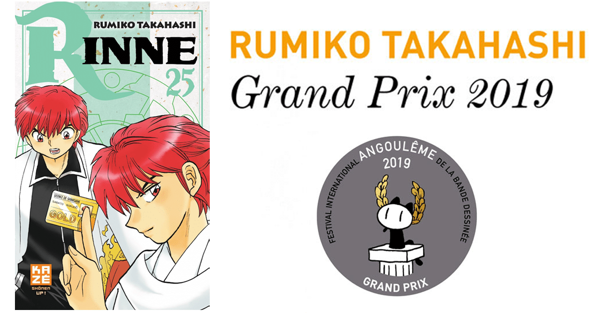 Rumiko Takahashi, lauréate du Grand prix FIBD 2019