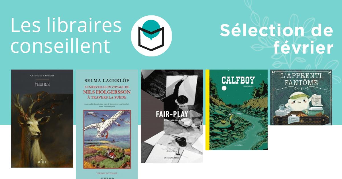 Les libraires conseillent : février 2019
