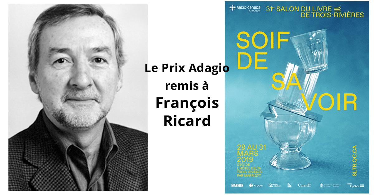 Le prix Adagio remis à François Ricard