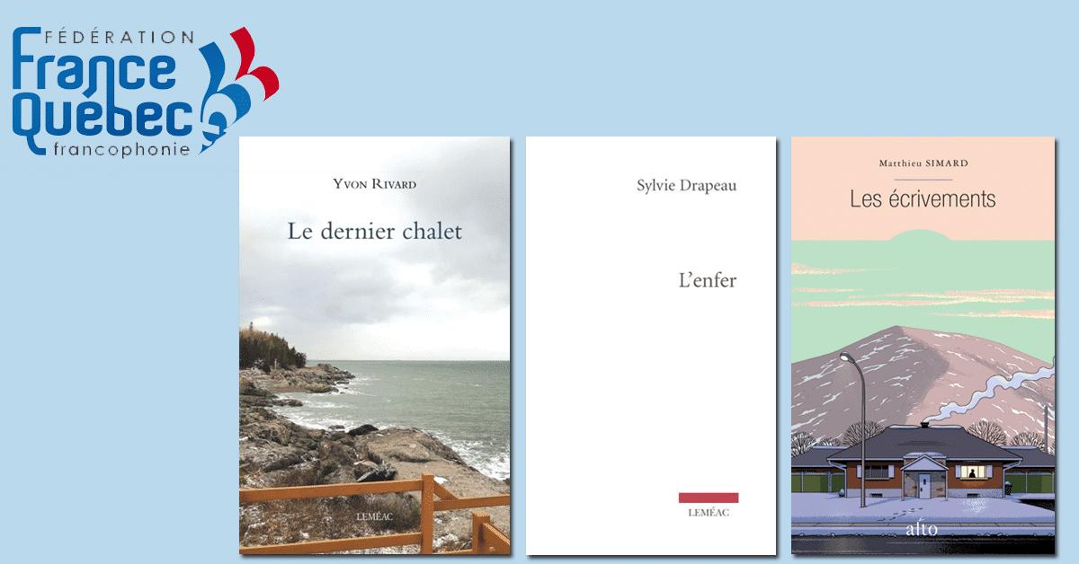 Les finalistes au prix littéraire France-Québec sont dévoilés!