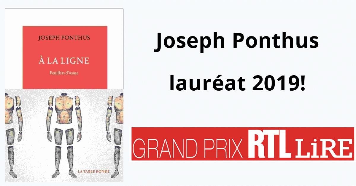 Joseph Ponthus, lauréat du Grand prix RTL-Lire