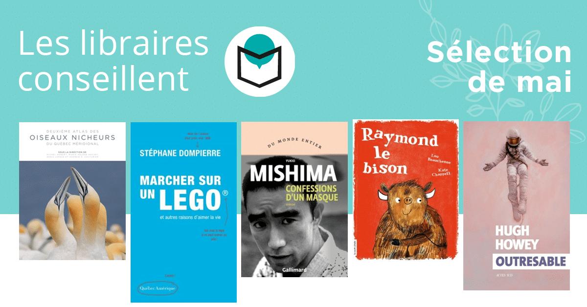 Les libraires conseillent : mai 2019