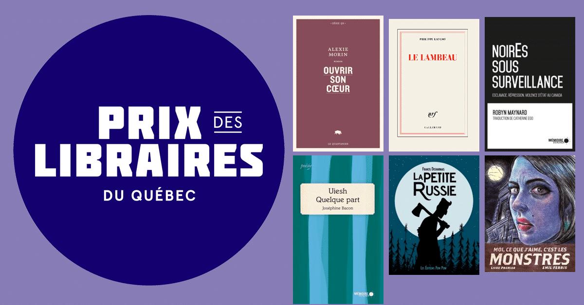 Lauréats du Prix des libraires du Québec 2019