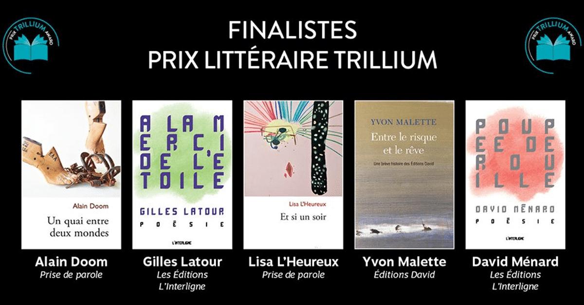 Dévoilement des finalistes du Prix littéraire Trillium 2019