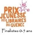 Prix jeunesse des libraires 2014 : finalistes 0-5 ans