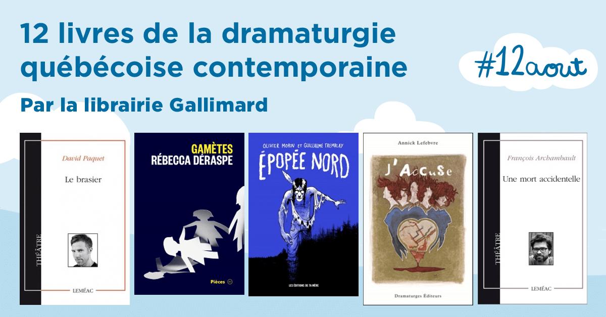 12 livres de la dramaturgie québécoise contemporaine