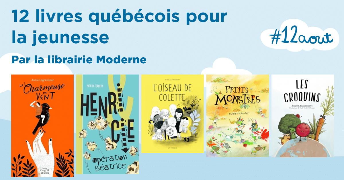 12 livres québécois pour la jeunesse