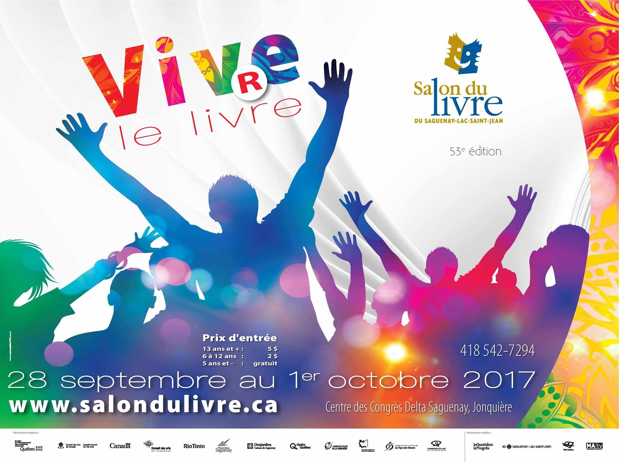 Vivre le livre - Le Salon du livre du Saguenay-Lac-Saint-Jean