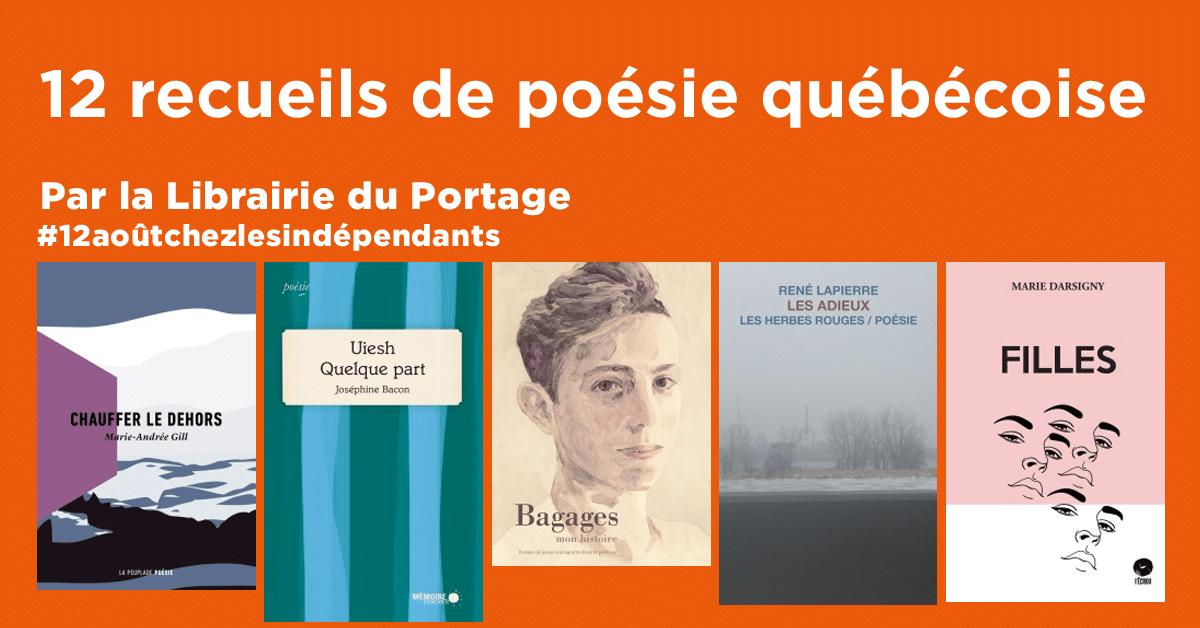 12 recueils de poésie québécoise