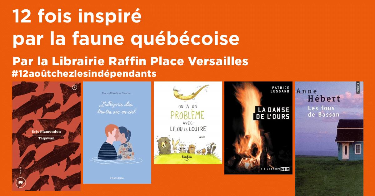 12 fois inspiré par la faune québécoise