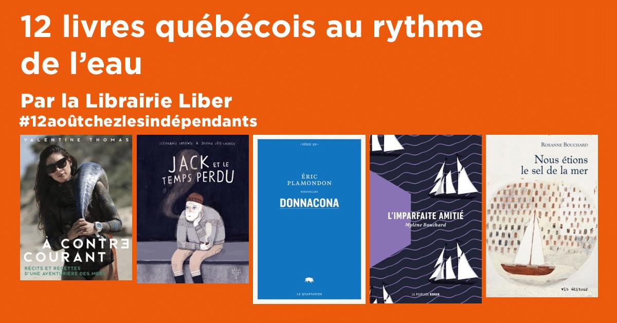 12 livres québécois au rythme de l'eau