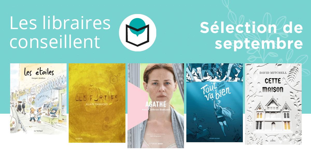 Les libraires conseillent : septembre 2019