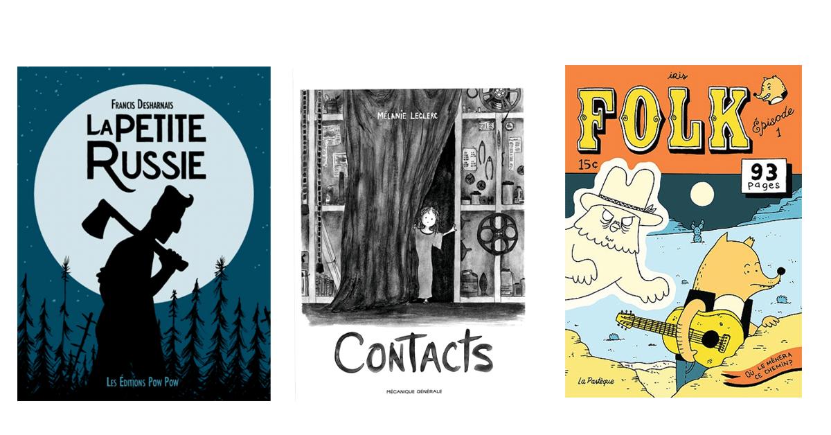 Les trois finalistes du Prix de la critique ACBD de la bande dessinée québécoise 2019