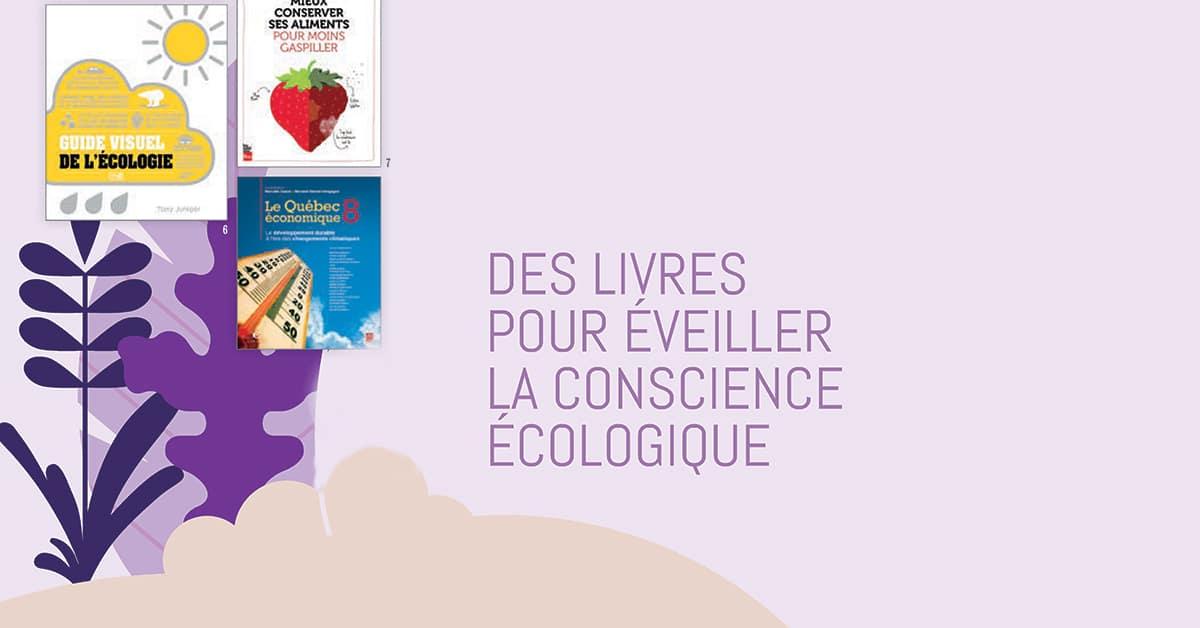 Des livres pour éveiller la conscience écologique