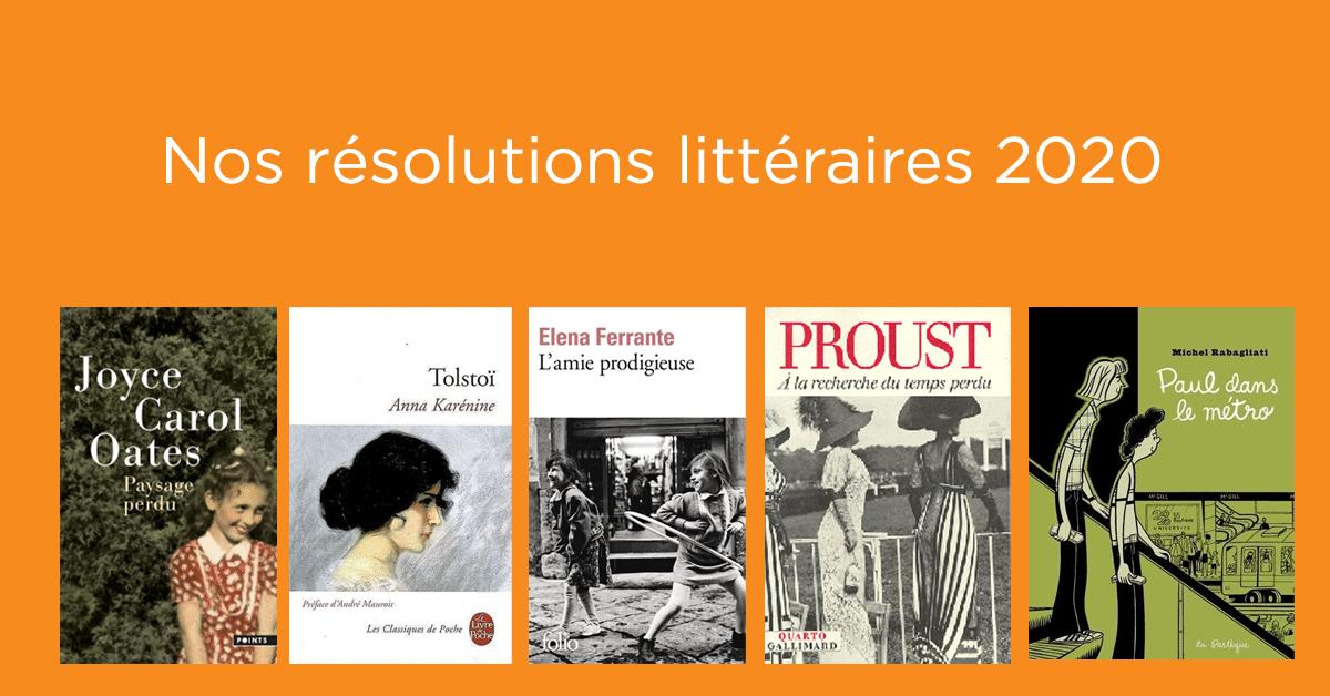 Nos résolutions littéraires 2020