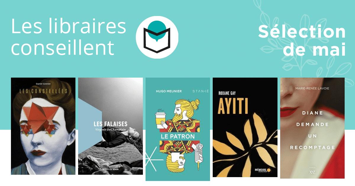 Les libraires conseillent : mai 2020