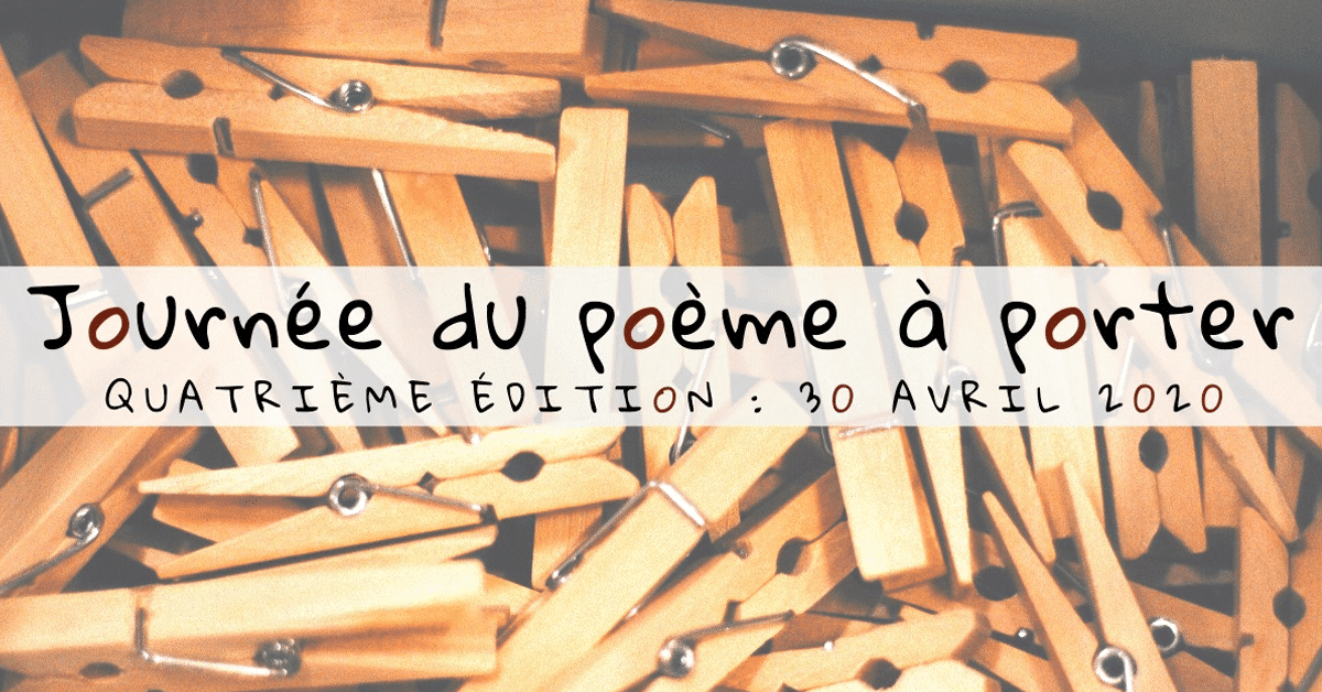Journée du poème à porter, édition 2020