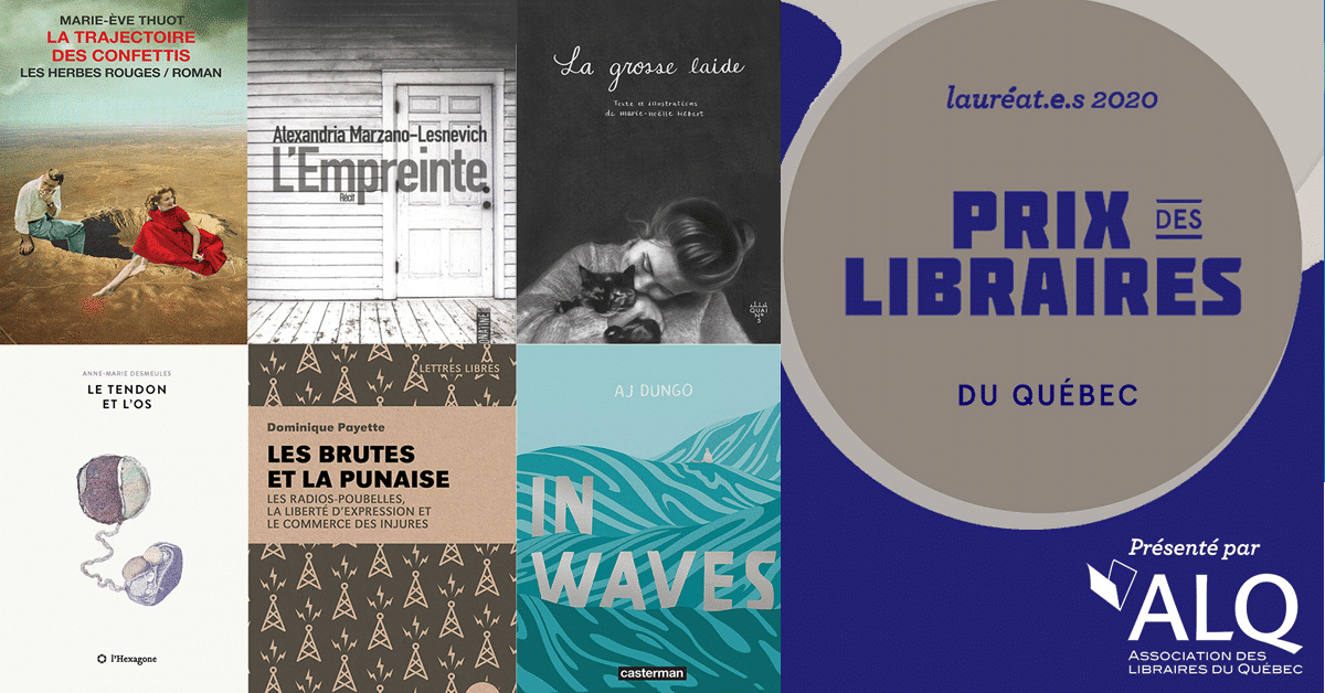 Prix des libraires du Québec : les lauréats 2020