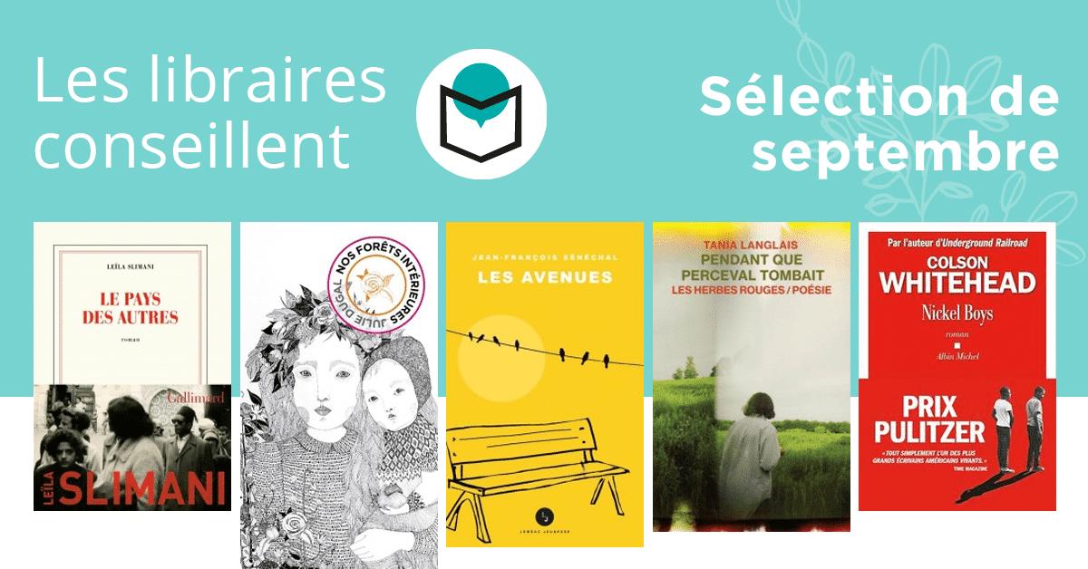 Les libraires conseillent : septembre 2020