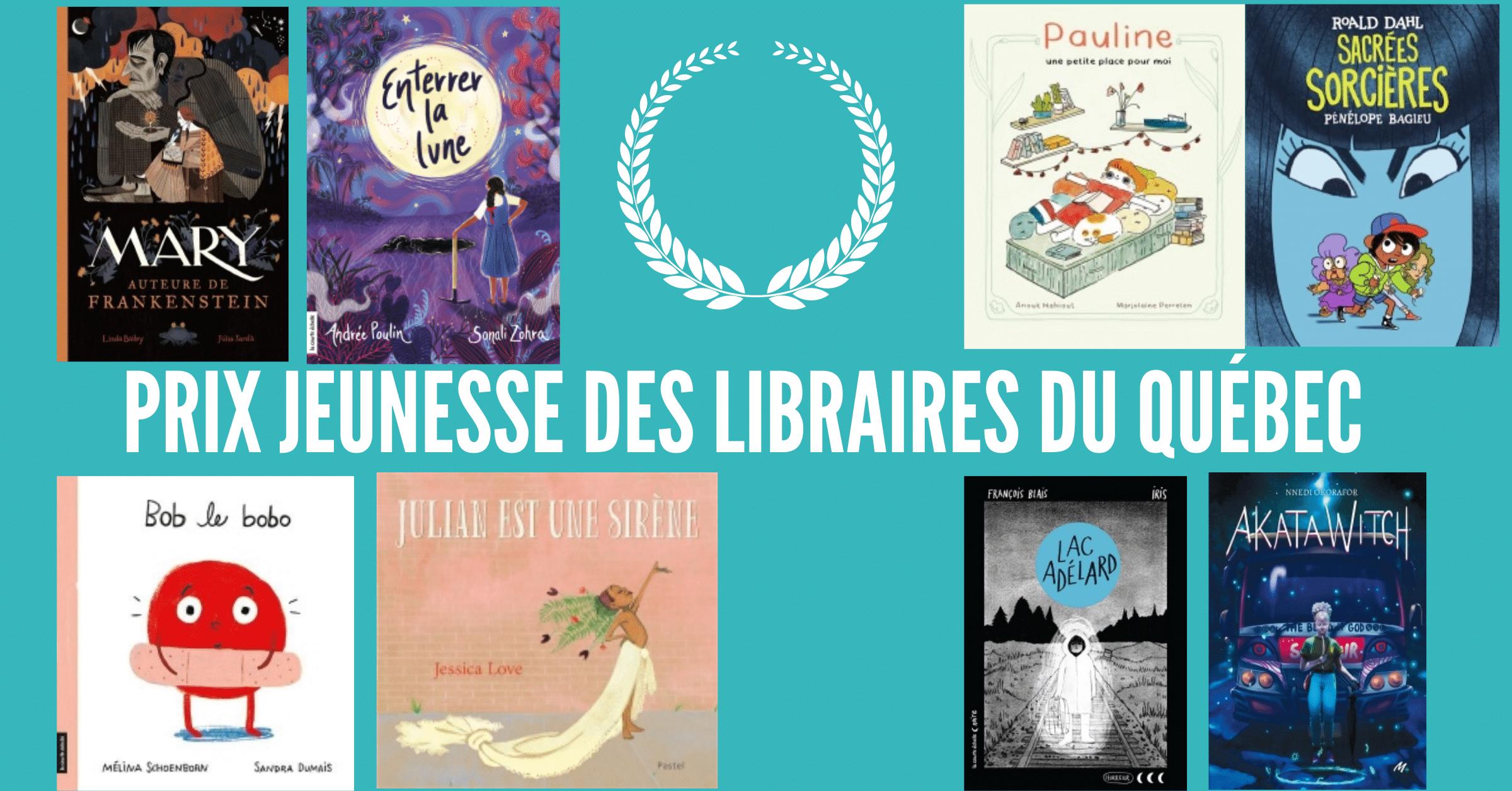 Lauréats du Prix jeunesse des libraires du Québec 2021