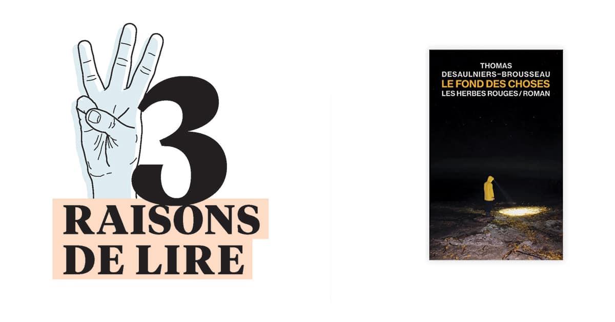 3 raisons de lire... Le fond des choses de Thomas Desaulniers